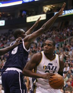 6ff65f950cf Paul Millsap looks for room to shoot. (Steve Griffin