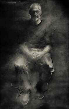 Pete Cernis ~ The Sculptor, 2010 (charcoal)