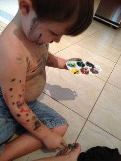 Homemade Body Paint, very easy & washable :)