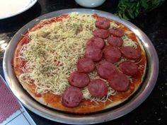 Pizza Fácil - Preparo: Calabresa
