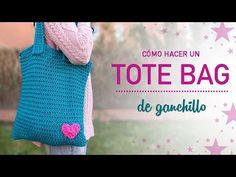 Cómo hacer un bolso de trapillo Crochet Tote, Crochet Handbags, Crochet Purses, Diy Crochet, Cotton Cord, Net Bag, Crochet Videos, Knitting Projects, Purses And Bags