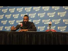 James Harden Post Game 4 NBA Western Conference Finals Rockets vs Warriors