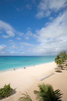 Seven Mile Beach at The Caribbean Club Grand Cayman.  On the day we were here it was very windy but still beautiful.