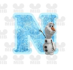 INSTANT DOWNLOAD Olaf the Snowman FROZEN - Digital Image For Iron On Transfer - Letter N - Great for Disney Shirts and Party Favors! on Etsy, 10.81 ₪