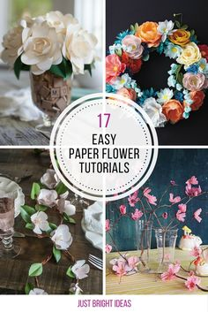 These paper flower crafts are GORGEOUS! Thanks for sharing!