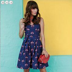 DEBENHAMS H! by Henry Holland Designer blue flamingo print prom dress Item No.0370102353