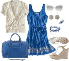 """Nothing But Blue Skies"" by pamnken on Polyvore"