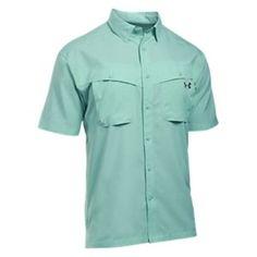 Under Armour Tide Chaser Short-Sleeve Fishing Shirt for Men - Mint/Rhino Gray - 2XL