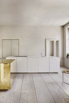 Simplicity Love: Apartment with brass cube, Sweden | Claesson Koivisto Rune . Love the floor