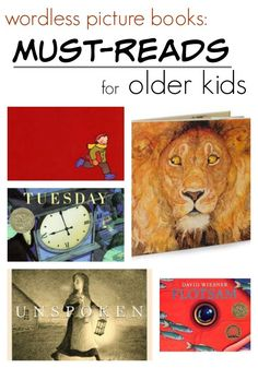 Wordless Picture Books: Must-Reads for Older Readers Well worth your time, wordless picture books offer a wealth of learning opportunities for older readers. Wordless Picture Books, Wordless Book, Children's Picture Books, Book Study, Writing A Book, Writing Comics, Writing Ideas, Middle School Reading, Library Books