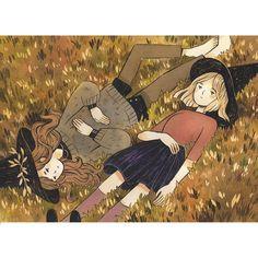 Print of the ink illustration 'Daydream'. Inspiration Art, Art Inspo, Pretty Art, Cute Art, Character Illustration, Illustration Art, Bel Art, Art Mignon, Witch Art