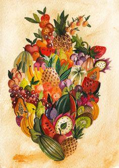 Cosas que encajan dentro de un corazón en Behance