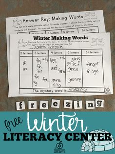 winter literacy cent