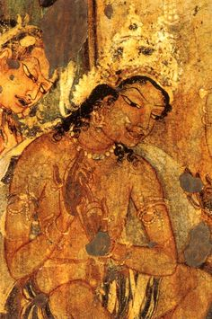 Ajanta caves caves and murals on pinterest for Ajanta mural painting