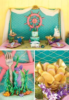 Crafty & Creative Little Mermaid Birthday Pool Party | Hostess with the Mostess® | Bloglovin