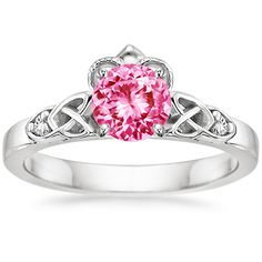Platinum Sapphire Celtic Claddagh Ring from Brilliant Earth