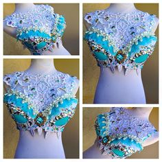 By: Electric Laundry Mermaid Top, Mermaid Crown, Rave Festival, Festival Looks, Edc Tops, Fantasy Mermaids, Diy Crown, Electric Daisy Carnival, Festival Costumes