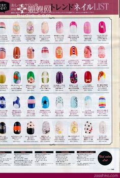 Examples of Japanese nail art