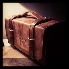 Men's Leather Toiletry Bag / Dopp Kit / Shave Kit. $199.00, via Etsy.
