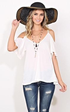 Cold Shoulder Swing Knit Tunic - New Arrivals