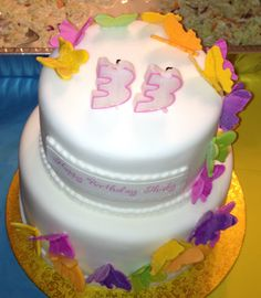 Butterfly fondant cake by Cathie Decicco in Brampton, Ontario, Canada.