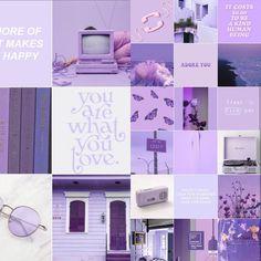 Purple Rooms, Purple Walls, Lavender Aesthetic, Purple Aesthetic, Purple Wallpaper, Purple Backgrounds, Aesthetic Room Decor, Aesthetic Collage, Lavender Walls