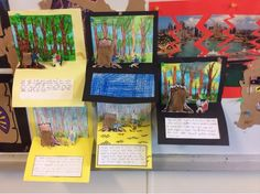 Learning With Literature. Pop up card diorama s depicting a scene from They Found a Cave.