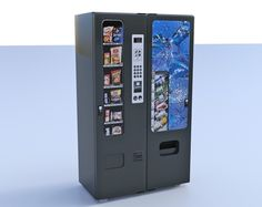 Buy a 3D double vendign machine model in FBX 3D format that works with most 3D modeling software.