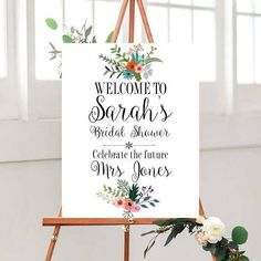 Printable  Sign, Bridal shower, Bridal shower Decor,  Wedding Signs Printable,  country wedding,  Floral Sign, Custom wedding sign