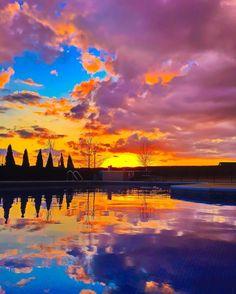 Spring fever  #kevinandamandaBackyardSunset #ProHDR #sunset #backyardview #sky #clouds #sun #earthpix #earthpics #pinkskies #fiery  #poollife #nature #landscape #sunrise by kevinandamanda