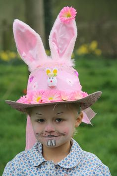 proudly off to school for the Easter bonnet comp at school!