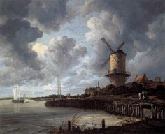 The Windmill at Wijk bij Duurstede (ca. 1670) by Jacob Isaackszon van Ruisdael