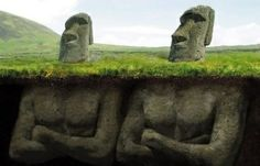 The real story behind (or under) the Easter Isle Heads! @Tim Whitlow (thought you might get a kick out of it)