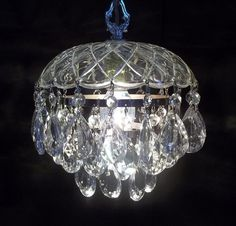 Tiered Crystal Petite Chandelier Crystal Wedding by donDiLights, $145.00