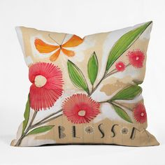 DENY Designs Cori Dantini Blossom 1 Throw Pillow - wayfair
