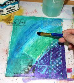 Mixed Media Canvas Tutorial by Kathy Jones