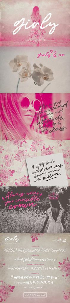 Girly Modern Script Font Duo by pixelbypixel on @creativemarket