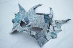 Easy Paper Mache Mask : 9 Steps (with Pictures) - Instructables Paper Mache Mask, Dragon Costume, Paper Strips, Masks Art, Mask Making, Sculpture, 3d, Pictures, Crafts