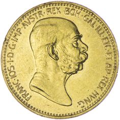 Franz Joseph I. 1848 - 1916 20 Kronen 1908 Regierungsjubiläum Gold