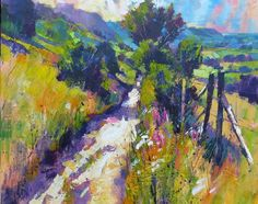 Gallery of Painting Tutor Chris Forsey - L'Age Baston Pastel Landscape, Watercolor Landscape, Abstract Landscape, Landscape Paintings, Abstract Art, Impressionist Art, Art And Illustration, Beautiful Paintings, Painting Inspiration