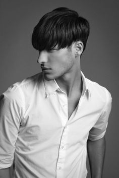 Casual Brushed Down Haircut for Men