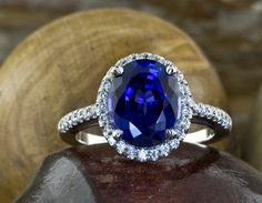 Blue Sapphire Engagement Rings Vintage