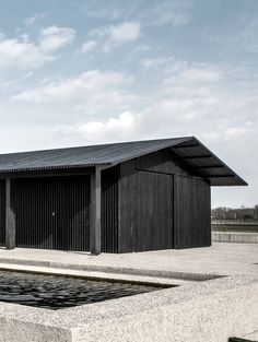 TR Residence Knokke, Belgium 2008—2014  Composition of three volumes that accomodate a private residence and horse stables.  Archive - Vincent Van Duysen