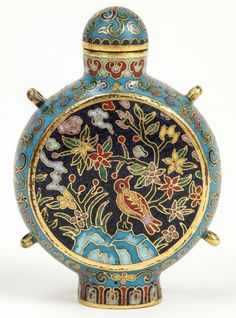 Fine Chinese Cloisonne Snuff Bottle