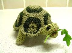 Look at this crocheted turtle :o)