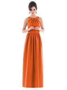 Burnt Orange <3 Alfred Sung Style D493 http://www.dessy.com/dresses/bridesmaid/d493/#.Uev0vr9H_8s