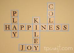 Scrabble Wall Decor.  Cute for Kids' Playroom