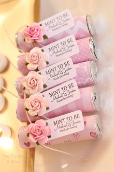 Mints pretty in pink! Wedding favors by @mintfavors.