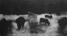 Elaine Green, Rupture / Pasture charcoal on watercolor paper Silverpoint, Green Beach, Green Art, Triptych, Drawing, Watercolor Paper, Book Art, Charcoal, Fine Art