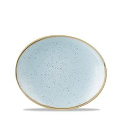 Stonecast #DuckEggBlue Oval Plate
